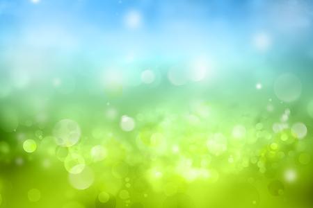 Bokeh circles green blue background