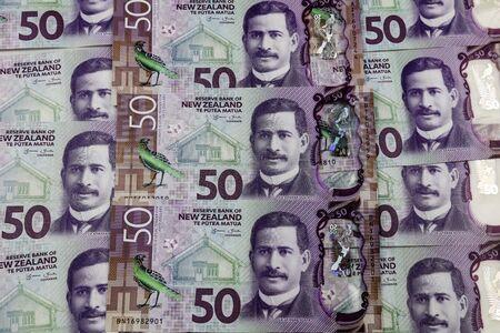 Close-up of New Zealand fifty dollar banknotes Stock fotó