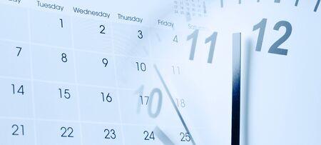 Clock face and calendar composite Banque d'images