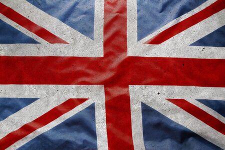Gros plan du drapeau Union Jack grunge