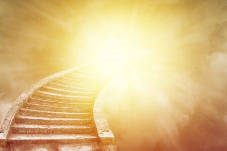 Stairway leading up to bright sky. Stairway to heaven idea