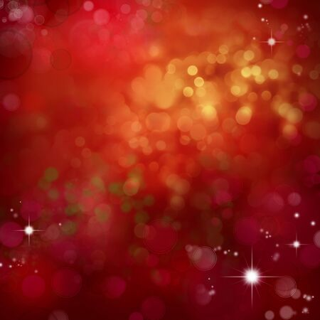 Circles and stars on red background. Christmas background 写真素材