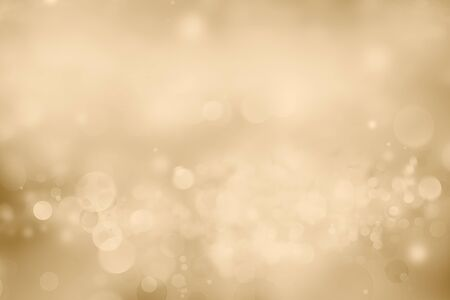 Abstract blurred soft circles bokeh brown Christmas background 写真素材 - 131816235