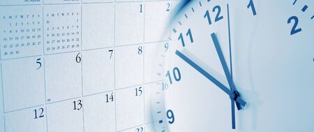 Clock face and calendar composite 写真素材 - 131816237