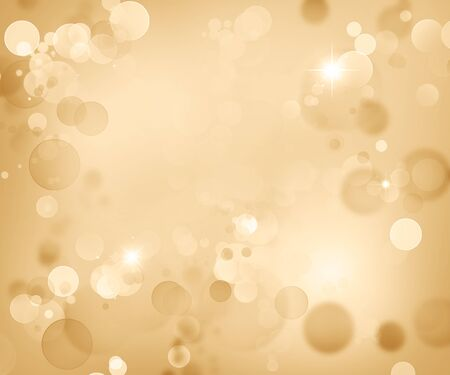 Abstract blurred soft circles bokeh brown Christmas background 写真素材 - 132090479