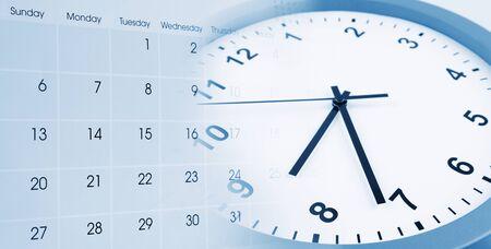 Clock face and calendar composite 写真素材 - 131816370
