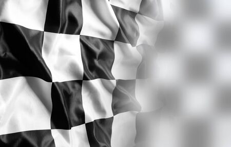 Checkered black and white racing flag 写真素材 - 131816369