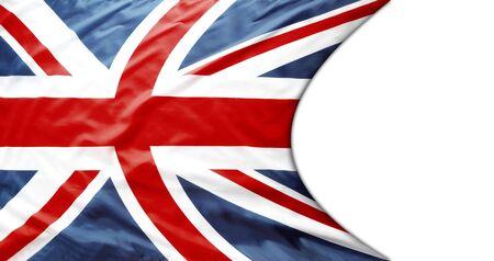 Union Jack flag on white background 写真素材