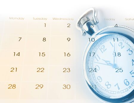 Watch and calendar page numbers