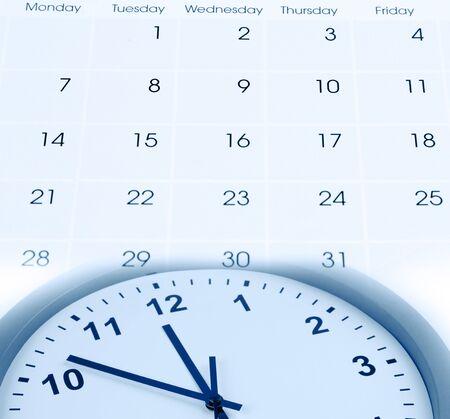 Clock face and calendar composite 写真素材