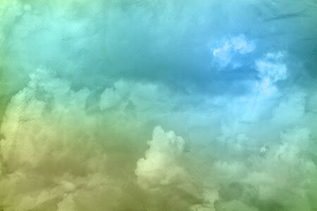 Blue and green grunge paper sky background 写真素材
