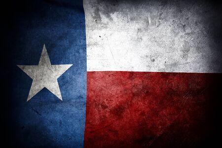 Primer plano de la bandera de Texas grunge Foto de archivo