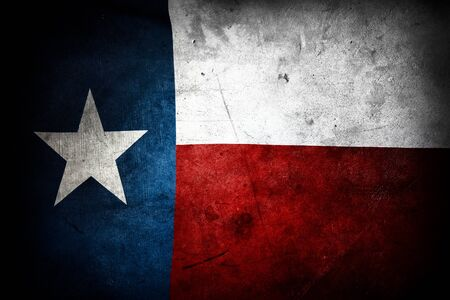 Closeup of grunge Texas flag