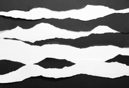 Ripped white paper edges on black