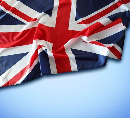 Union Jack flag on blue background Banque d'images