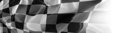 Checkered black and white flag close-up