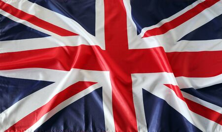 Closeup of Union Jack flag Reklamní fotografie