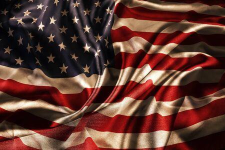Closeup of silky American flag 版權商用圖片