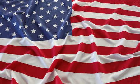 Closeup of rippled American flag Standard-Bild