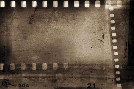 Film negative frames background. Copy space Banco de Imagens