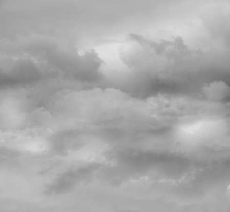 Grey clouds in the sky