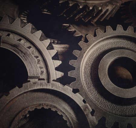 Close-up of old metal cog wheels 版權商用圖片