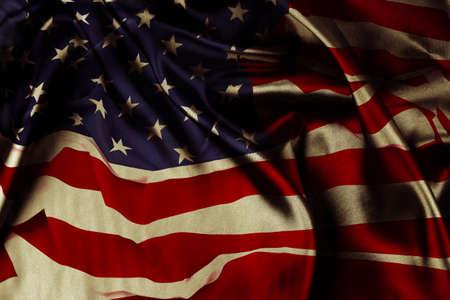 Close-up of silky American flag Banco de Imagens