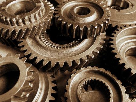 Close-up of old metal cog wheels Zdjęcie Seryjne