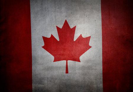 Grunge textured effect Canadian flag Banco de Imagens