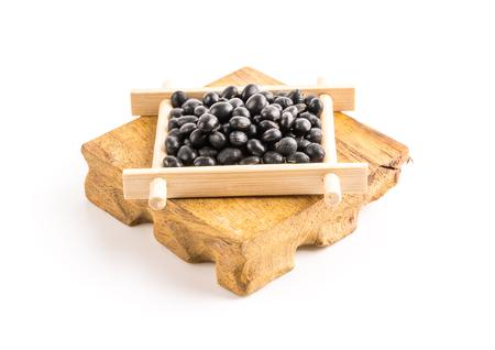 soya bean: soja negro Foto de archivo
