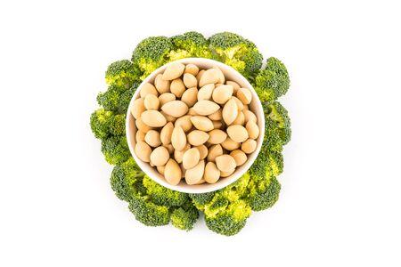 gingko: broccoli  and gingko