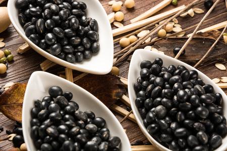 soybeans: Black Soybeans Stock Photo