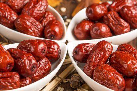 roughage: red dates  Stock Photo