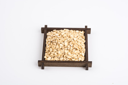 rolled oats: Rolled oats background. Closeup.