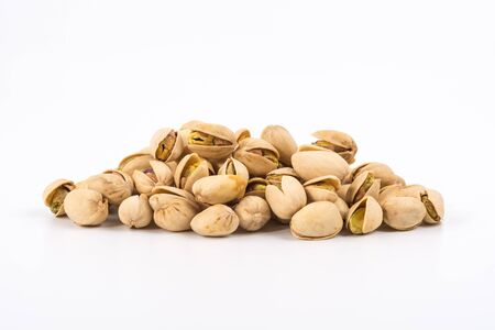 Pistachio nuts. Isolated on a white background. 版權商用圖片