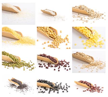 black gram: grain oat millet soybean Stock Photo