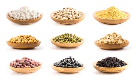 grain oat millet soybean Stock Photo