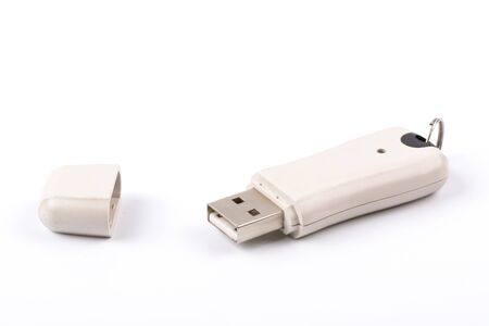 portable rom: USB flash memory isolated on a white background Stock Photo