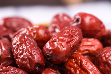 matured: red dates Stock Photo