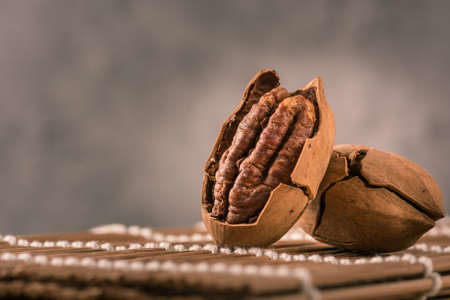 un healthy: Pecan nuts Stock Photo