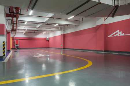 parking garage: Parking garage underground interior Stock Photo
