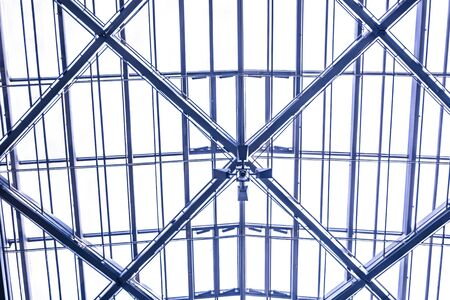 ethmoid: Ethmoid roof of glass, concrete and metal. Stock Photo