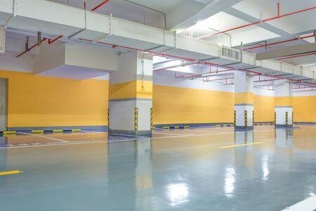 parking spaces: Parking garage