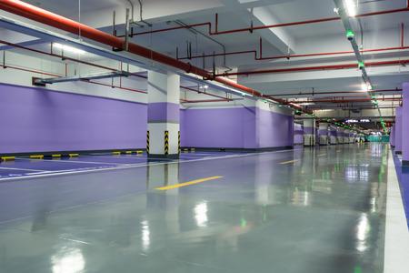 parking lot interior: Parking garage underground interior Editorial