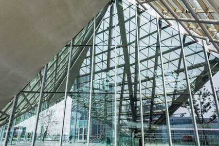 ethmoid: Ethmoid roof of glass, concrete and metal. Editorial