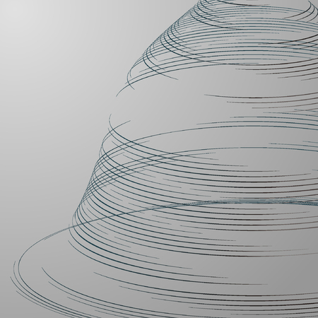 disorderly: Point and curve constructed the sphere wire frame, technological sense abstract illustration.