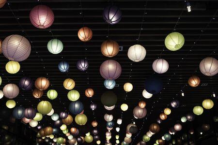 decorating: Decorating Light Balls.