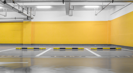 empty space: Empty space car park interior at night