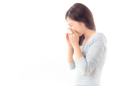 Asien-Mädchen krank Standard-Bild