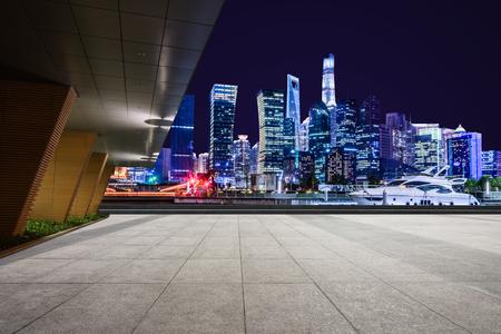 Twilight shot with the Shanghai skyline